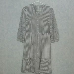 NWT Old Navy cotton/linen shirt dress SMALL